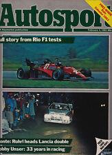 Autosport 3 Feb 1983 - Rio F1 Test, Monte Carlo Rally Rohrl Grand Prix , Unser