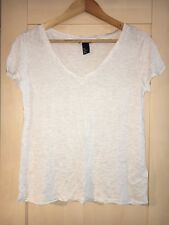 Cream H&M Basic V Neck T Shirt Small Brand New