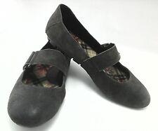 Born Womens Mary Jane Flat Comfort Shoes Distressed Gray US 9 EU 39 - 40 EUC
