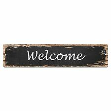 SP0040 Welcome Street Sign Bar Store Shop Cafe Home Kitchen Shabby Chic Decor