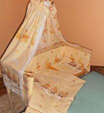 Beistellbett Gitterbett Babybett  Komplett Matratze Himmel Bettwäsche 5 Farben