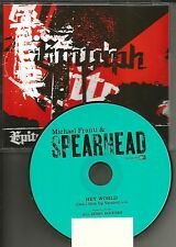 MICHAEL FRANTI & SPEARHEAD Hey World w/ RARE Don't Give Up VERSION PROMO DJ CD