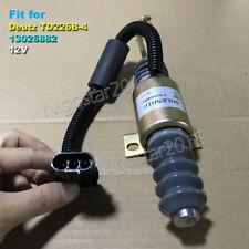 Fuel Shut Off Stop Solenoid Valve 13026882 12V for Deutz Agriculture TD226B-4