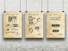 Telephone Telecom Posters Set of 3 Telecom Gifts Old Time Phone Operator Gift