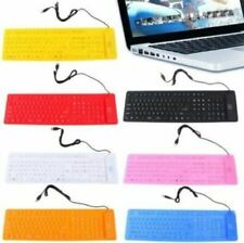 109 KEY portable Soft rubber keyboard USB Flexible Silicone Water proof window
