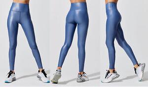 EUC CARBON38 S $109 Takara Shine High Rise Full Length Leggings Iris Blue
