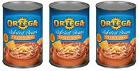 3 Ortega Traditional Refried Beans Cans 16 Ounces Each
