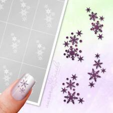 Schablonen für Airbrush und Nailart SET85 Winter Schneeflocken Stern klebend SET