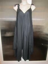 NEW..Stylish Plus Size Black Romper Jumpsuit..One size will fit Sz16-20