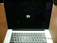 "Apple MacBook Pro 15.4"" i7 Quad core @2.8GHZ 16 GB RAM  Mid 2014 Cracked Screen"