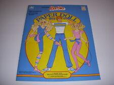 GREAT SHAPE BARBIE PAPER DOLL Book, 1985, Golden Book, UNCUT!