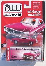 AUTO WORLD 1971 DODGE DART SWINGER #1 Plum 1:64 VINTAGE MUSCLE RELEASE 1 B
