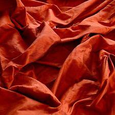 "Burnt Orange Dupioni Silk, 100% Silk Fabric 54"" Wide, By The Yard (S-118)"