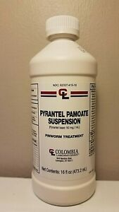 Columbia Laboratories Pyrantel Pamoate Oral Suspension 50mg/mL 16 Ounce