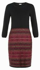 BNWT Monsoon Tammy black knitted & purple fairisle flattering dress size XL