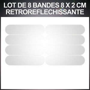 8 Stickers Reflectors - Adhesive Bike Helmet - Visibility on The Night -