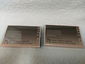 Lot of 2 Mary Kay Beauty Blotters 75 Sheets Oil Absorbing Tissues New Sealed 150