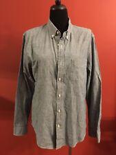 J. Crew Slim Fit Shirt Size Large Denim Look Long Sleeve Casual #200