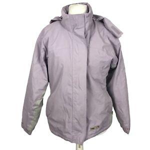 Trespass Size 10-12 Purple Lined Waterproof Windproof Walking Hiking Jacket