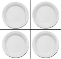 4 x 100 WHITE PLASTIC PLATES  9 inch//23cm quality durable plates ideal for Party