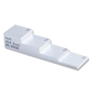"""YUSHI 0.100"""" 0.200"""" 0.400"""" 0.600"""" Calibration Block Step Wedge Thickness Testing"""