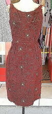 Authentic Vintage 1950s/1960s Camille Lee Burgundy Cocktail Dress