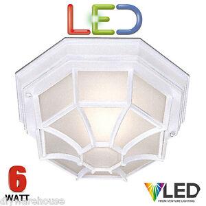 SEARCHLIGHT LED HEXAGONAL WHITE CEILING WALL DIE CAST LIGHT 6 WATT OUTDOOR IP54