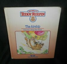 Vintage 1985 World Of Wonder Teddy Ruxpin The Airship Reading & Pictures Book