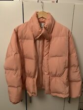 UNIF x Urban Outfitters Light Pink Cropped Puffer Jacket Coat L 40