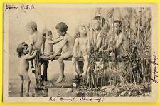 cpa POSTKARTE Dos 1900 Germany ENFANTS NU Baignade Nackte Kinder Naked Children