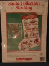 Dimensions Counted Cross Stitch Stocking Kit Santa Xmas JFC Sunset VTG 1991