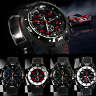GT Extreme Sport Mens Black Watch Waterproof Stainless Steel Luxury Quartz Watch