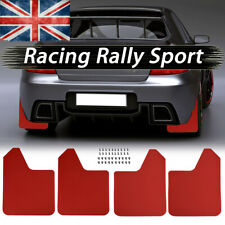 Universal Wide Body Mudflaps Mud Flaps Guard Fender W/Clips Rally Car Van RED