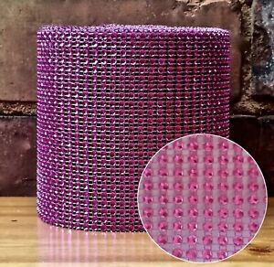 Diamante  mesh ribbon bridal wedding  cake crafts / free postage