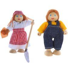 Puppenhaus Puppenfamilie Puppen Mutter Vater Miniaturen Biegepuppen 2210