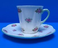 Shelley Rosebud Dainty Shape Demitasse and Saucer