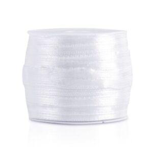 "50 Yards 1/8""3mm Satin Ribbon Craft Bows Wedding Party Decor DIY Wholesale OBRN1"