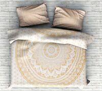Queen Mandala Quilt Duvet Cover Hippie Reversible Doona Cover Bohemian Bedding