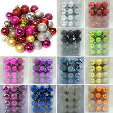 24Pcs Christmas Party Baubles Ball Glitter Xmas Tree Hanging Ornament Decoration