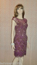 BNWT Miss Selfridge Burgundy Vintage Embellished 20's Gatsby Dress Size UK 10