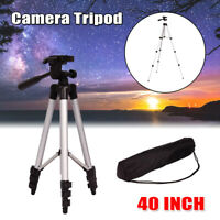 Portable Adjustable Camera Tripod Mount Stand Holder For Canon Nikon DSLR +Bag