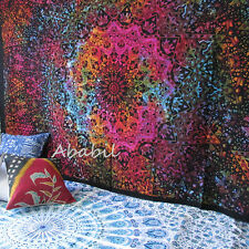Psychedelic Wall Hanging Tapestry Twin Indian Tie Dye Star Mandala Hippie Throw
