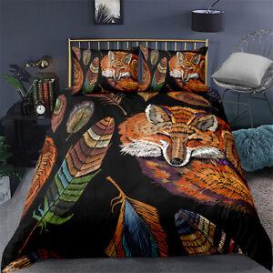 Duvet Quilt Cover Set Single Double King Super King Bedding Linen Fox Plume