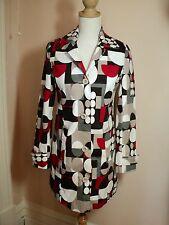 tightrope modern art print spot jacket trench coat  nwt