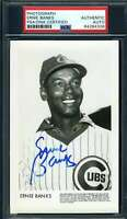 Ernie Banks PSA DNA Coa Hand Signed Cubs Photo Autograph