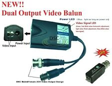 NEW Video Balun Signal splitter, 1CH Passive Transmitter and 1CH Active Receiver