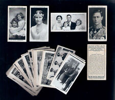 TRADE CARDS=OUR KING and QUEEN.Complete SET-50 Cards.Wills cigarettes.1937