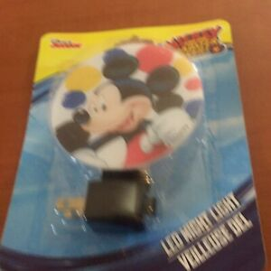 Mickey Mouse Night Light Disney Nursery Kids 3W LED Wall Plug Lamp Bedroom! NEW!
