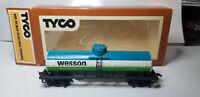 TYCO 315K HO 40' Wesson Vegetable Tank Car Advertising Billboard Train Car w/box