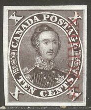CANADA #16Pi India Proof - 10c Black Brown w/ RED SPECIMEN Ovpt ($450)